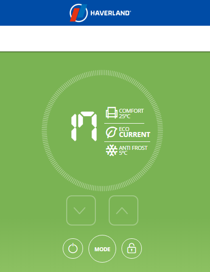 Haverland App: Radiator Overview