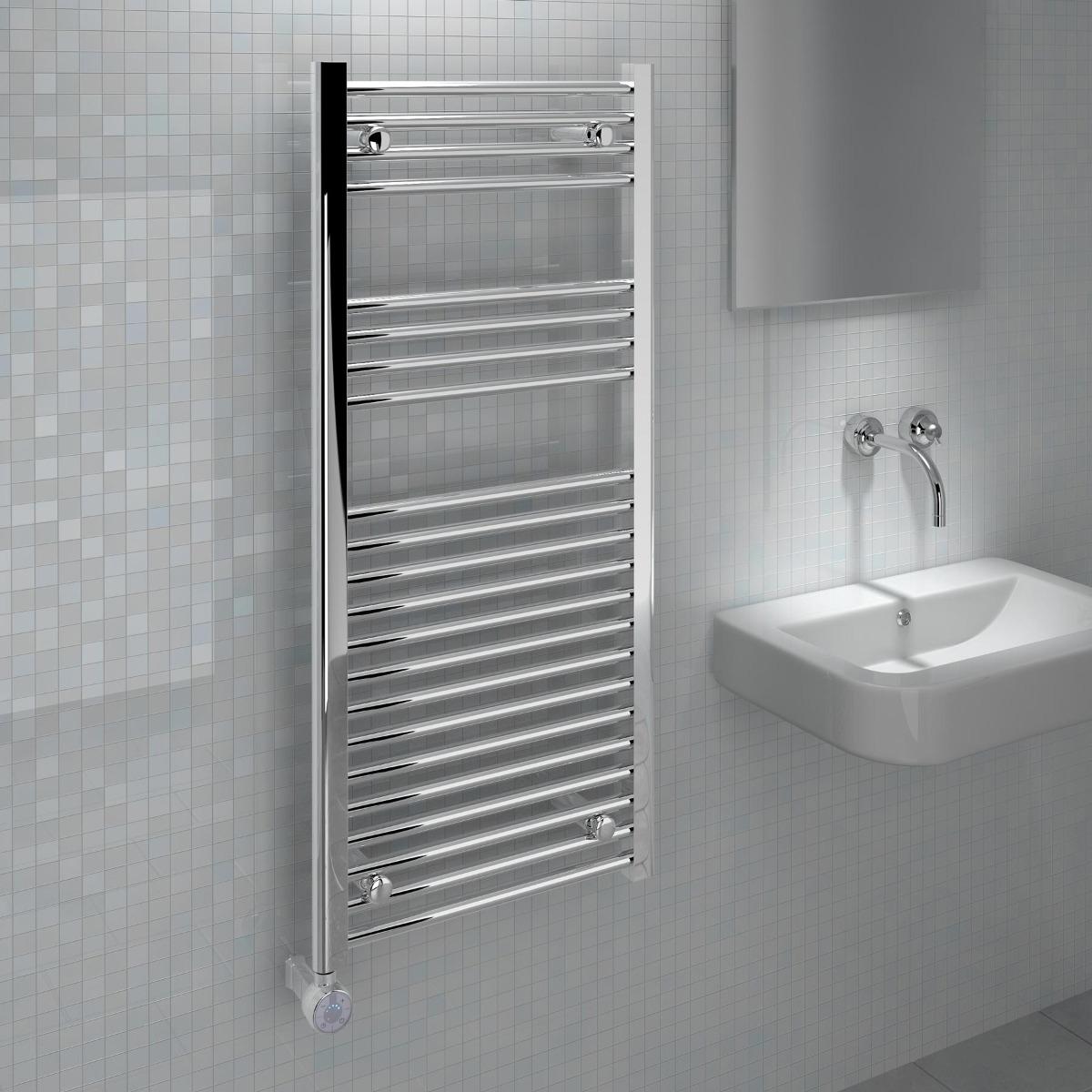 Ecostrad Fina-E Thermostatic Chrome Towel Rail