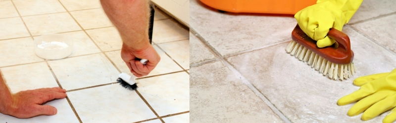 Larger tiles = less cleaning!