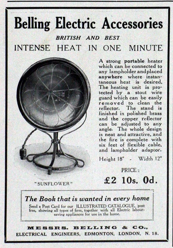 Belling heater poster