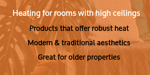 Heating for rooms with high ceilings