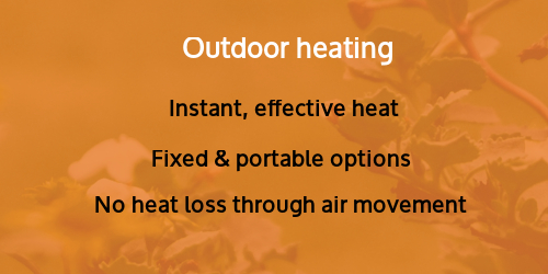 Heating for outdoors