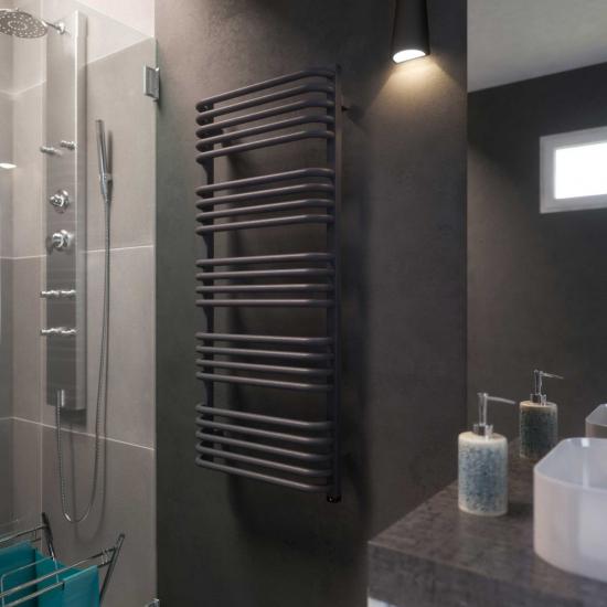 Terma Alex ONE Designer Electric Towel Rails - Grey