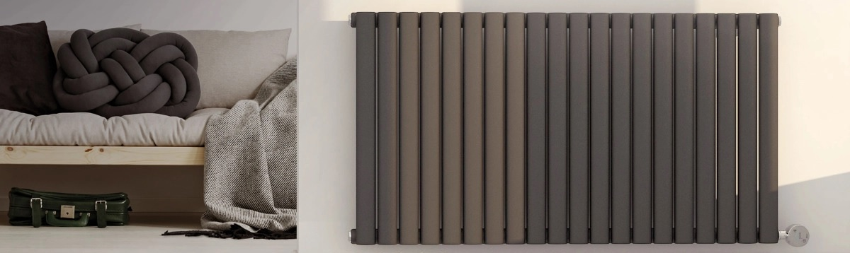Ecostrad Allora electric radiator on wall