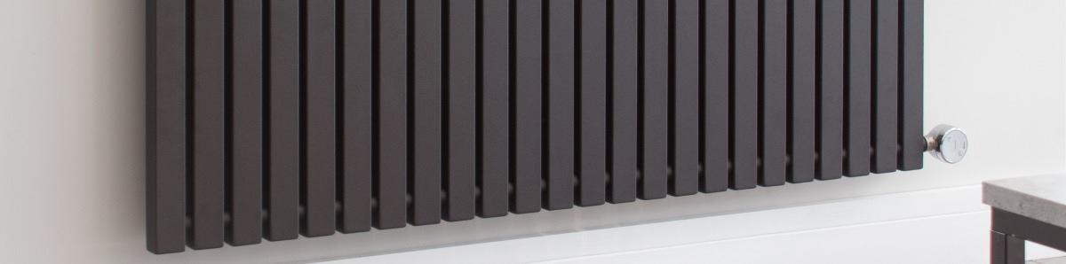 Ecostrad Adesso horizontal electric radiator black