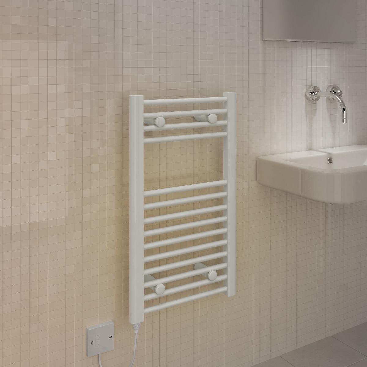 White towel rails