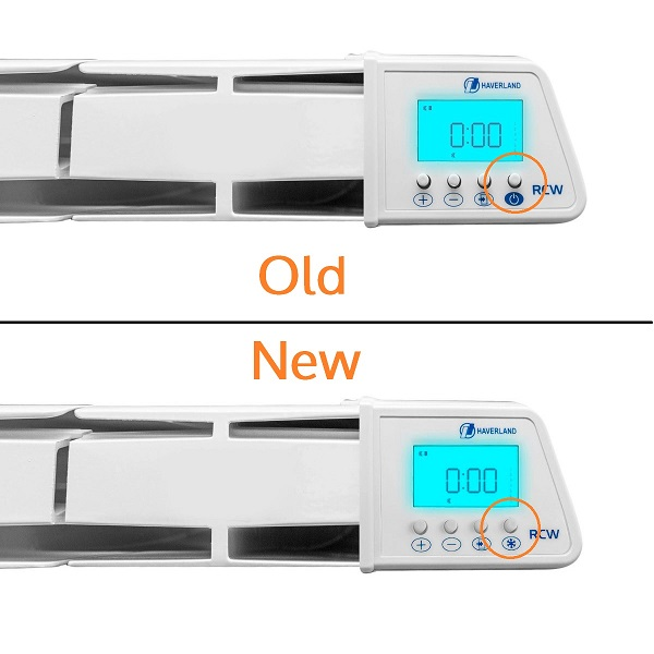 RC Wave electric radiator old/new comparison