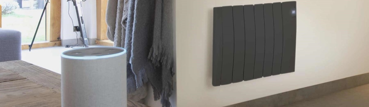 Haverland SmartWave electric radiator on wall